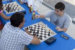 Maratona do competiam da xadrez Foto de Stock