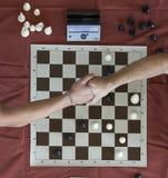 Maratona do competiam da xadrez Fotografia de Stock