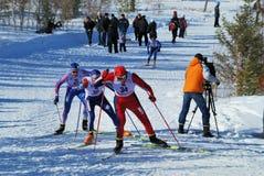 Maratona do esqui Fotos de Stock Royalty Free