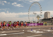 Maratona dos homens - Olympics 2012 Foto de Stock