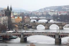 Maratona em Praga, República Checa foto de stock royalty free