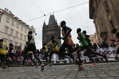 Maratona em Praga, República Checa fotografia de stock royalty free