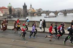 Maratona em Praga, República Checa imagens de stock