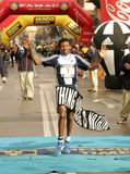 A maratona Haile Gebrselassie de Recordman do mundo Foto de Stock Royalty Free