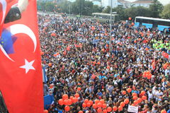 Maratona intercontinental de Istambul Eurasia Fotos de Stock Royalty Free