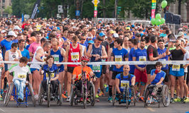 Maratona internacional 2015 de Bucareste meia Imagem de Stock Royalty Free