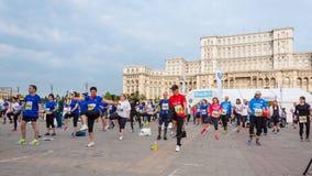 Maratona internacional 2015 de Bucareste meia Fotografia de Stock