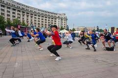 Maratona internacional 2015 de Bucareste meia Fotos de Stock