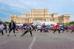 Maratona internacional 2015 de Bucareste meia Imagens de Stock