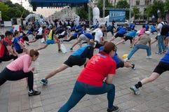 Maratona internacional 2015 de Bucareste meia Fotografia de Stock Royalty Free