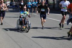 Maratona internacional de Kharkov 2018 foto de stock