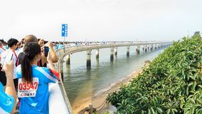 Maratona internacional 2014 de Xiamen fotografia de stock
