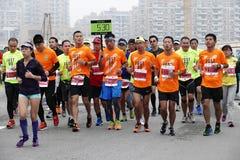 Maratona internacional 2015 em Shanghai Fotografia de Stock Royalty Free