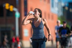 Maratona ScotiaBank 2018 de Calgary Imagem de Stock Royalty Free
