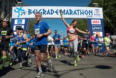 Maratona start-2 Fotografia Stock