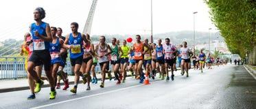 Maratona urbana Fotografia Stock