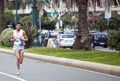 Maratona Vivicitta 2010 - o vencedor Khalid Gallab Fotografia de Stock Royalty Free