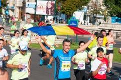 Maratonfolk Arkivfoton