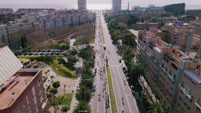 Maratonhändelse med många löpare lager videofilmer