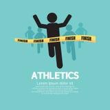 Maratonlöpare. Arkivbilder