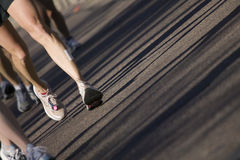 maratonlöpare arkivbilder