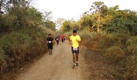 maratonlöparetrail Royaltyfri Bild