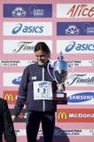 maratonmilan vinnare Royaltyfri Foto