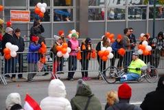 Maratonsikt för 2014 NYC på den 1st avenyn Arkivfoto