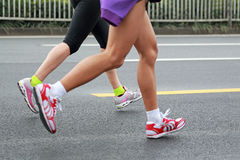 Maratonspring Royaltyfria Bilder