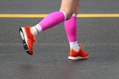Maratonspring Arkivbild