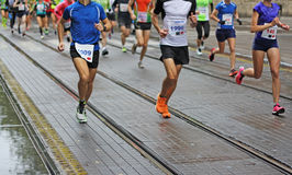 Maratonspring arkivfoton