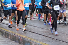 Maratonspring arkivfoto