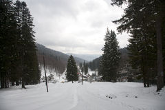 Poiana Cerbului valley Royalty Free Stock Photos