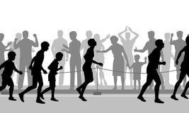 Maratonuppmuntran Royaltyfria Foton
