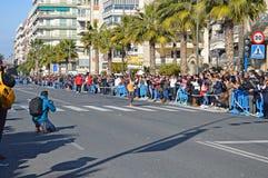 Maratonvinnare arkivfoton