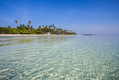 Maratua, Derawan,印度尼西亚海景视图  免版税库存照片