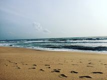Maravanthe海滩 库存图片