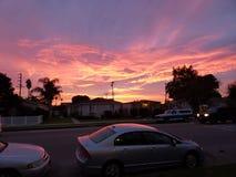 Maravilla de la puesta del sol fotos de archivo