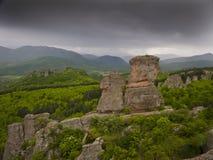 Maravilla-fenómeno búlgaro de las rocas de Belogradchik Foto de archivo