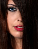 Maravillosamente cara de la mujer Imagen de archivo libre de regalías