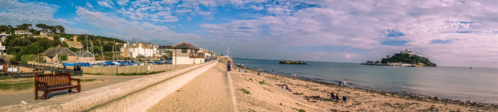 Marazion coastline Royalty Free Stock Photos