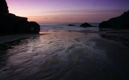 Marazion, Cornwall, am Sonnenuntergang stockfotos