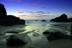 Marazion, Cornwall, at sunset Stock Photos