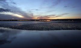 Marazion, Cornwall, at sunset Royalty Free Stock Photography
