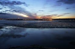 Marazion, Cornwall, at sunset Royalty Free Stock Photo