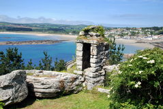 Marazion, England: Castle Views to Town Stock Photos