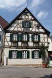 Marbach am Neckar, Baden-Wurttemberg, Germany. MARBACH AM NECKAR, GERMANY - JUNE 11, 2015: Traditional half-timbered house where Friedrich Schiller was born in Stock Image