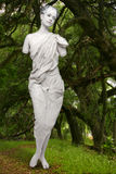 Marbe Live Statue of a Woman Outdoors Royalty Free Stock Photos