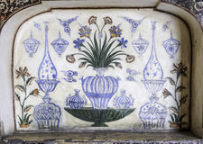 Marbel Decoration of Tomb of Itimad-ud-Daulah or Baby Taj in Agra, India Royalty Free Stock Image