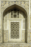 Marbel-Dekoration des Grabs von Itimad-ud-Daulah oder von Baby Taj in Agra, Indien Lizenzfreie Stockbilder